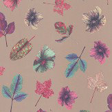 Osborne & Little Woodland Jade / Blue / Pink /Rose Gold Wallpaper - Product code: W7020/03
