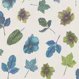 Osborne & Little Woodland Blue / Teal / Apple / Stone Wallpaper - Product code: W7020/05