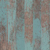 Osborne & Little Driftwood Teal / Metallic Copper Wallpaper - Product code: W7021/04