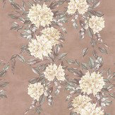 Osborne & Little Rhodora Cream / Sage / Rose Gold Wallpaper - Product code: W7022/03