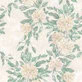 Osborne & Little Rhodora White / Sage / Ivory Wallpaper - Product code: W7022/06