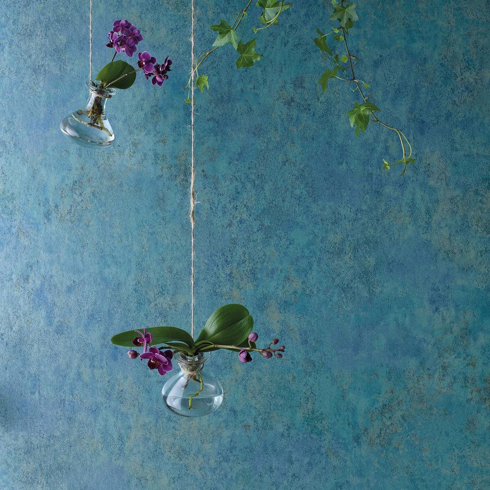 Fresco Wallpaper - Teal Metallic - by Osborne & Little