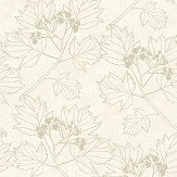 The Paper Partnership Nutley Cream / Gold Wallpaper