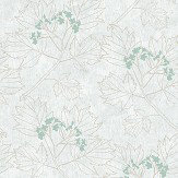 The Paper Partnership Nutley Aqua / Grey Wallpaper