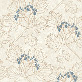 The Paper Partnership Nutley Beige / Copper Wallpaper