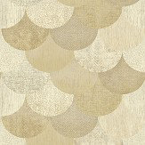 The Paper Partnership Paxhill Cream / Gold Wallpaper
