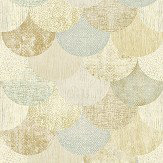 The Paper Partnership Paxhill Aqua / Gold Wallpaper