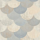 Elizabeth Ockford Paxhill Blue / Copper Wallpaper - Product code: WP0080404