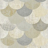 The Paper Partnership Paxhill Grey / Gold Wallpaper