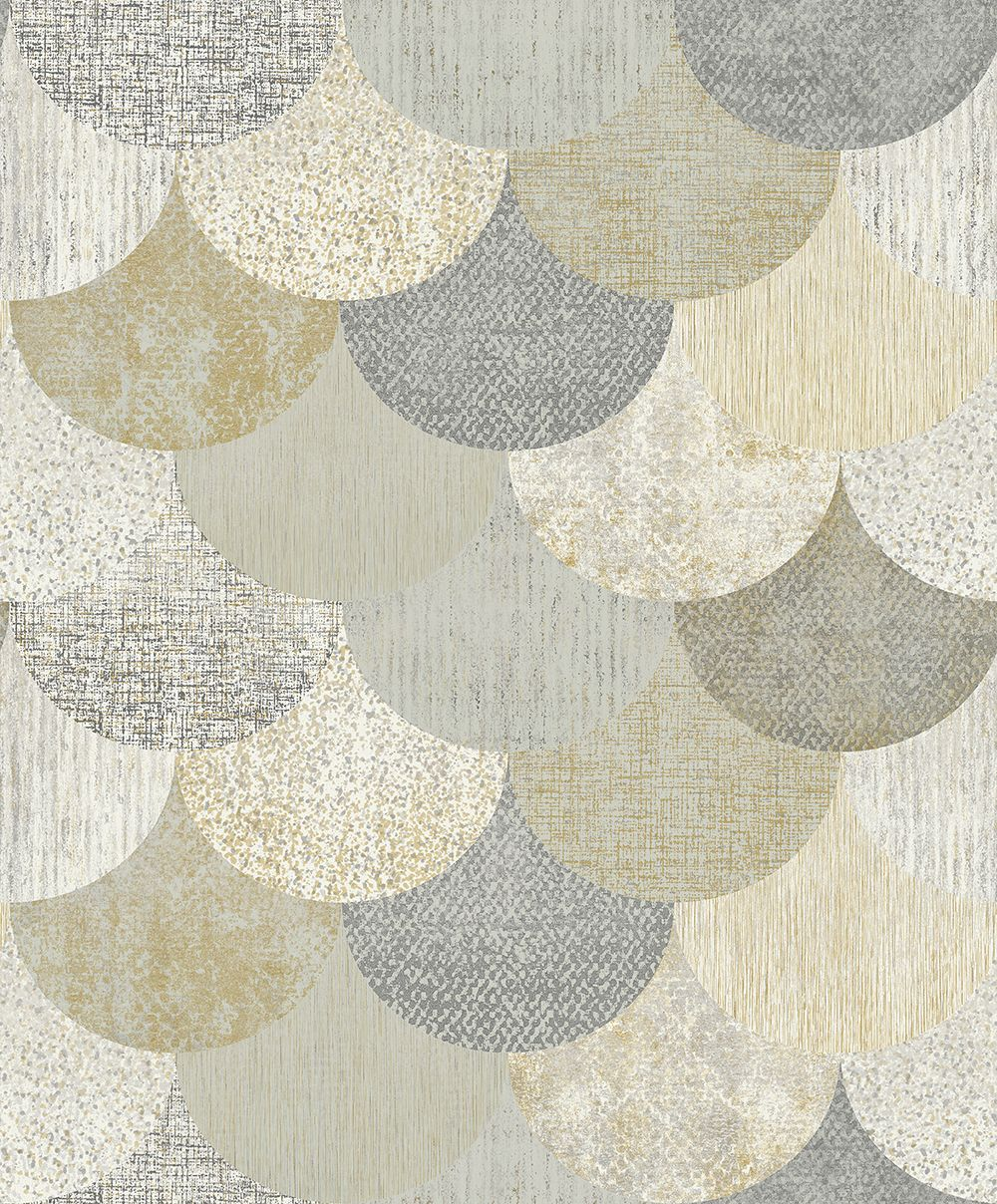 The Paper Partnership Paxhill Grey / Gold Wallpaper - Product code: WP0080405
