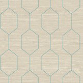 The Paper Partnership Kemptown Aqua / Grey Wallpaper - Product code: WP0080803