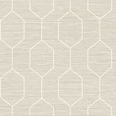 The Paper Partnership Kemptown White / Stone Wallpaper - Product code: WP0080805