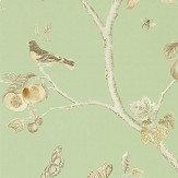 Sanderson Fruit Aviary Sage / Neutral Wallpaper