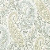 Sanderson Cashmere Paisley Duck Egg /Opal Wallpaper - Product code: 216321
