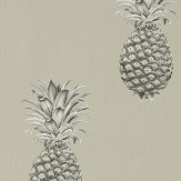 Sanderson Pineapple Royale Charcoal / Champagne Wallpaper