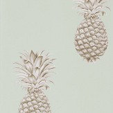 Sanderson Pineapple Royale Porcelain / Sepia Wallpaper - Product code: 216325