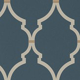 Sanderson Empire Trellis Indigo / Linen Wallpaper - Product code: 216338