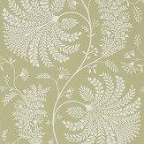 Sanderson Mapperton Garden Green / Cream Wallpaper - Product code: 216340