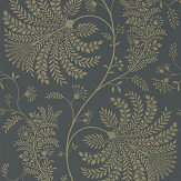 Sanderson Mapperton Graphite / Gilver Wallpaper