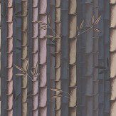 Osborne & Little Bamboo Dark Dove / Heather Wallpaper - Product code: W7025/06