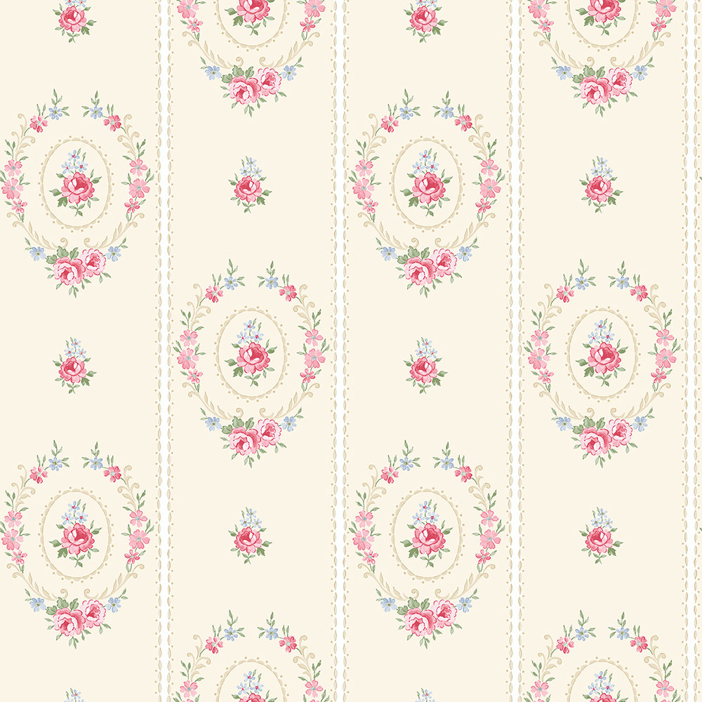 The Paper Partnership Maria Vanilla Wallpaper - Product code: LL 00305
