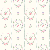 The Paper Partnership Maria  Cream / Powder Blue Wallpaper - Product code: LL 00315