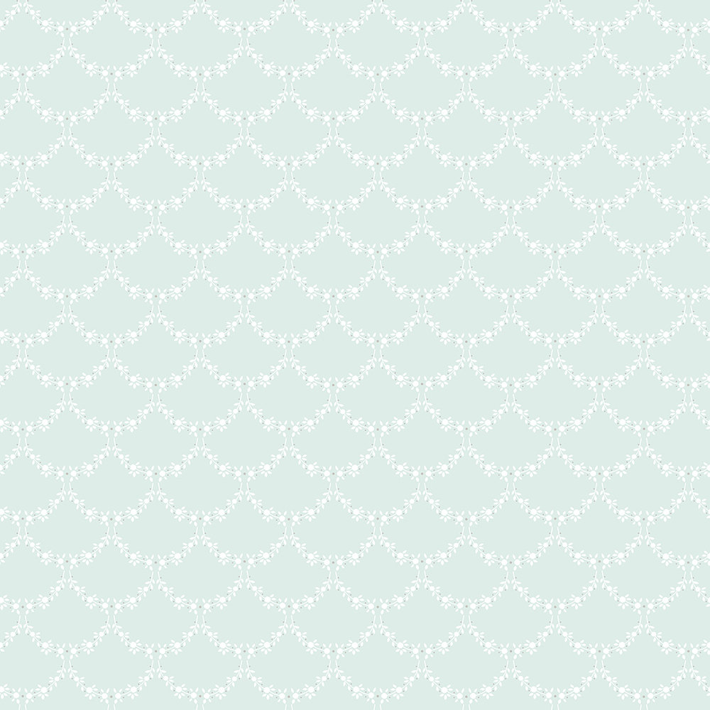 The Paper Partnership Anna Duck Egg Blue Wallpaper - Product code: LL 00302