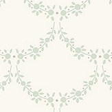The Paper Partnership Anna Cream / Powder Blue Wallpaper
