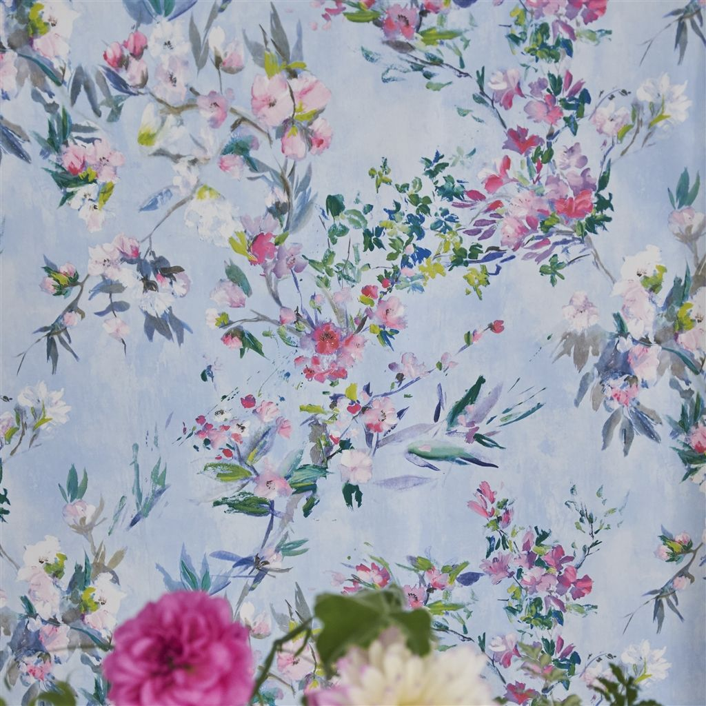 Designers Guild Faience Sky Wallpaper extra image