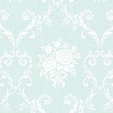 The Paper Partnership Elizabeth Duck Egg Blue Wallpaper - Product code: LL 00304