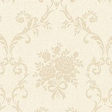 The Paper Partnership Elizabeth Vanilla / Truffle Wallpaper - Product code: LL 00309
