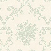 The Paper Partnership Elizabeth Cream / Powder Blue Wallpaper - Product code: LL 00317