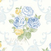 The Paper Partnership Florence Sky Blue Wallpaper - Product code: LL 00327