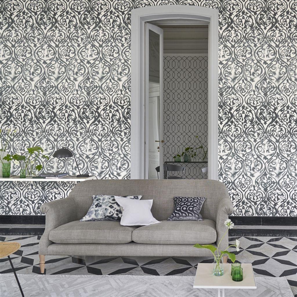 Arabesque Mural - Graphite - by Designers Guild