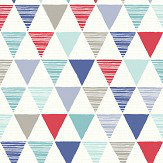 Arthouse Jester Red and Blue Wallpaper