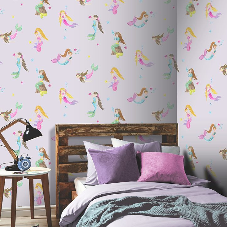 Arthouse Mermaid World Lilac Wallpaper - Product code: 696102