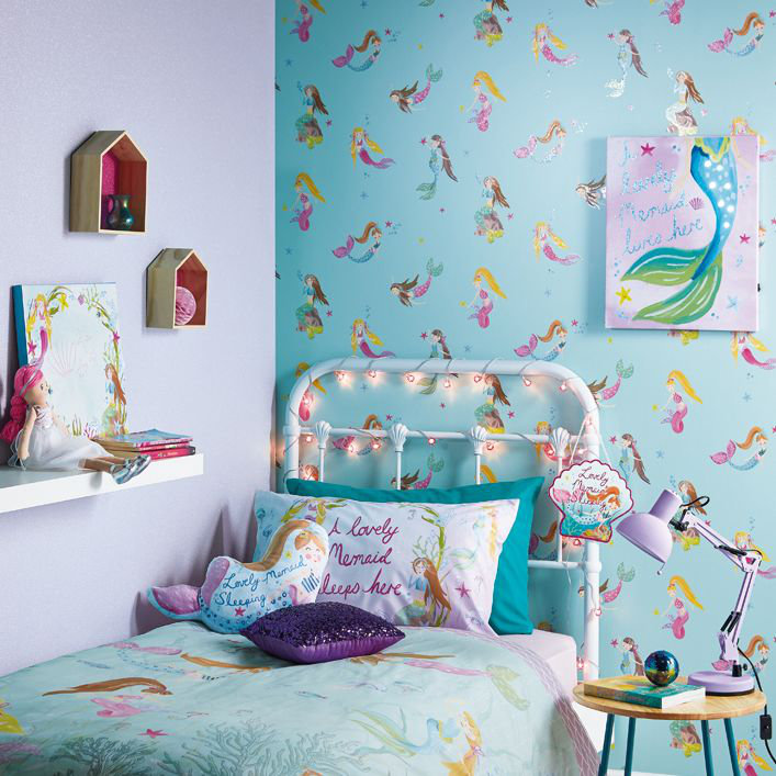 Arthouse Mermaid World Teal Wallpaper - Product code: 696103