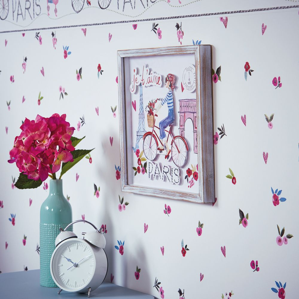 Arthouse Paris with Love Plain White Wallpaper - Product code: 696106