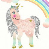 Arthouse Rainbow Unicorn White Wallpaper