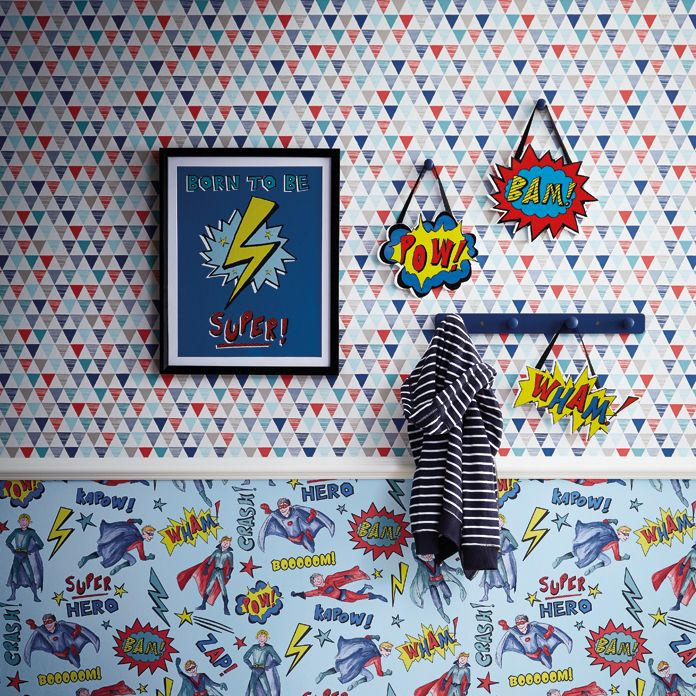 Arthouse Superhero Blue Wallpaper - Product code: 696200