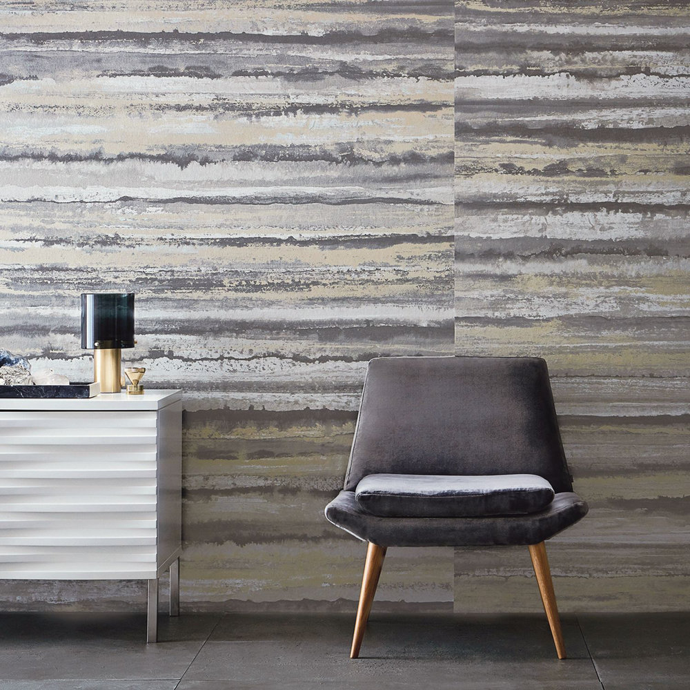 Therassia By Anthology Travertine Wallpaper