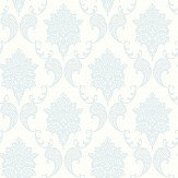 The Paper Partnership Grace Sky / White Wallpaper - Product code: LL 00324