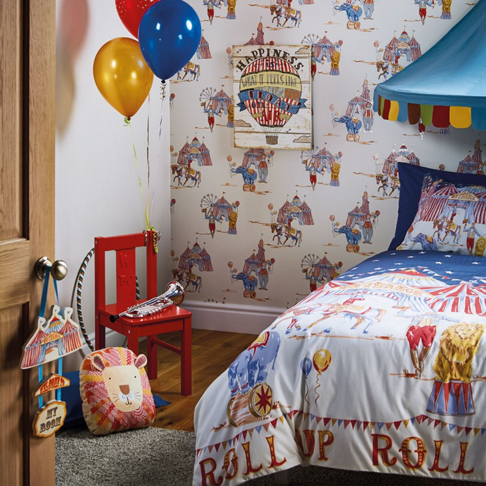 Circus Fun Duvet Set Duvet Cover - Multi - by Arthouse