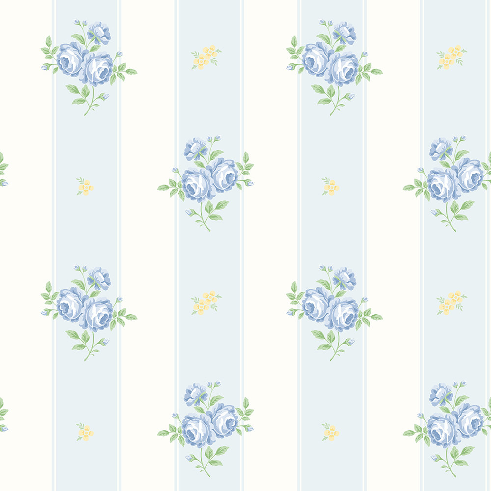 The Paper Partnership Jessica Blue / Yellow Wallpaper - Product code: LL 00342