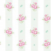 The Paper Partnership Jessica Mint / Fuchsia Wallpaper - Product code: LL 00347