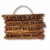 Arthouse Pirate Ahoy Wooden Plaque Multi Art