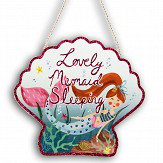 Arthouse Mermaid World Sleeping Plaque Multi Art