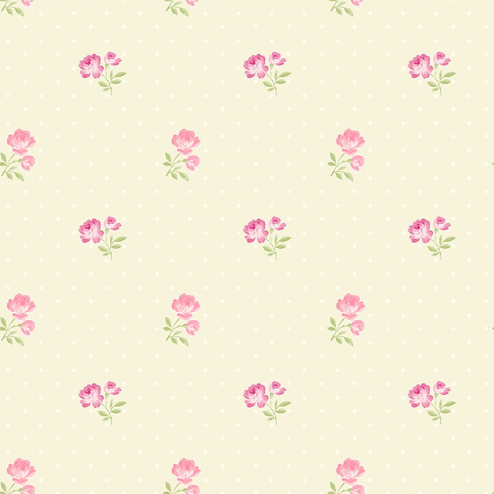 The Paper Partnership Sophie Cream / Pink Wallpaper - Product code: LL 00350