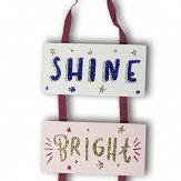 Arthouse Shine Bright Wooden Plaque Multi Art