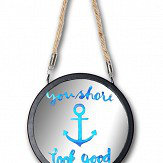 Arthouse Underwater Fun Anchor Round Mirror Multi